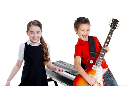 kids getting private Music Therapy lessons