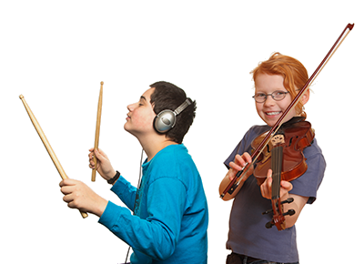 kids getting private Music Education instruction